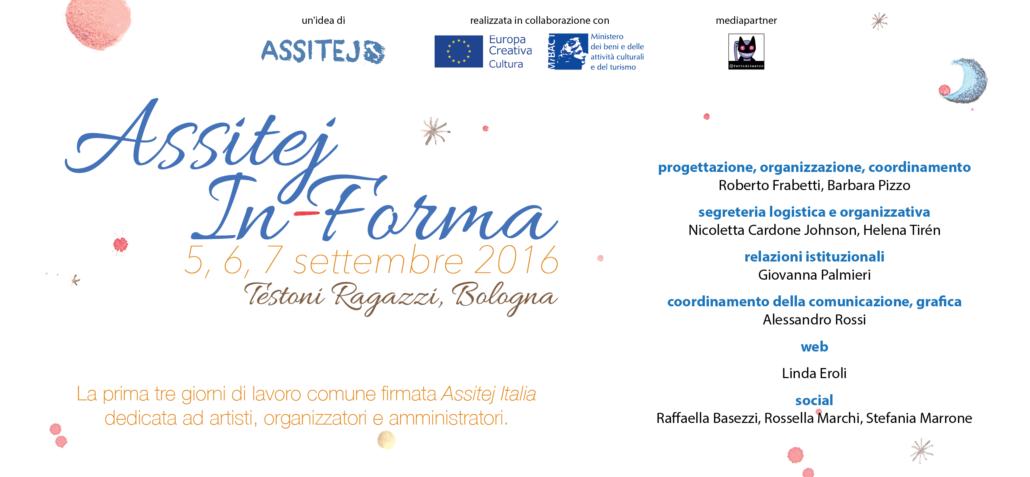 Assitej In-forma, 5-7 settembre 2016, Bologna, Testoni Ragazzi